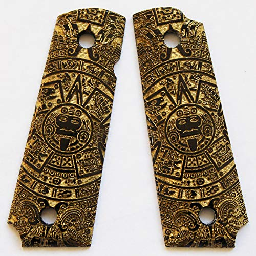 DURAGRIPS - Grips for Browning 1911-22 1911-380 .22 .380 - Aztec Calendar (Black/Gold)