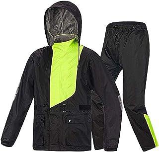 PPCP Raincoat (Raincoat and rain Pants Suit) Split Adult Breathable Raincoat + Trousers Waterproof Men and Women Raincoat ...