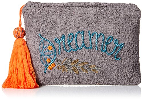 'ale by alessandra Women's Dreamer Plush Cotton Terry Cloth Clutch/Bikini Bag, grey, One Size