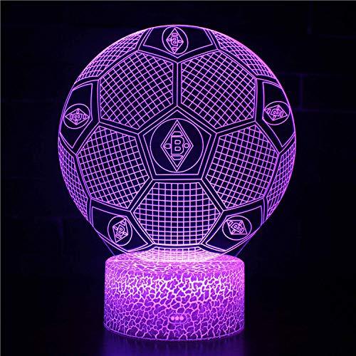 Lámparas de ilusión óptica LED 3D lámpara de escritorio con USB decorativo remoto para niños niñas dormitorio regalos de cumpleaños