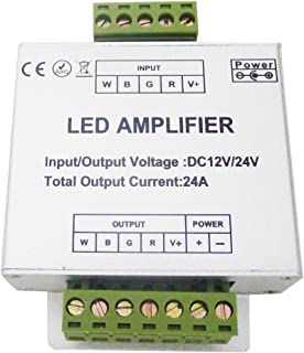 LEDENET? RGBW Amplifier 24A Data Signal Repeater 4CH Channels Circuit Aluminum Shell for RGBWW LED Lights Strip 12V 24V