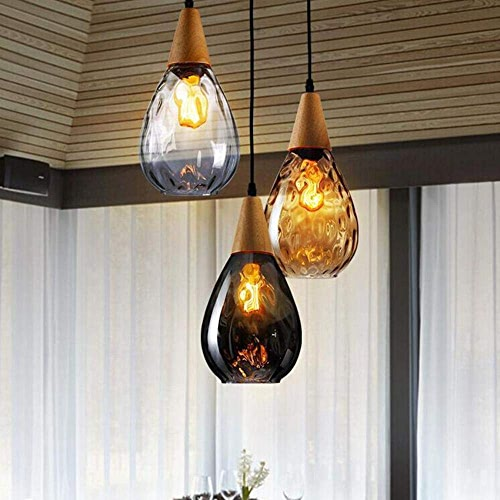 Moderne Pendentif En Verre Créatif LED Pendentif Lampe Chambre Restaurant Salon Café Mobilier De Cuisine éclairage Luminaire, F 20CM