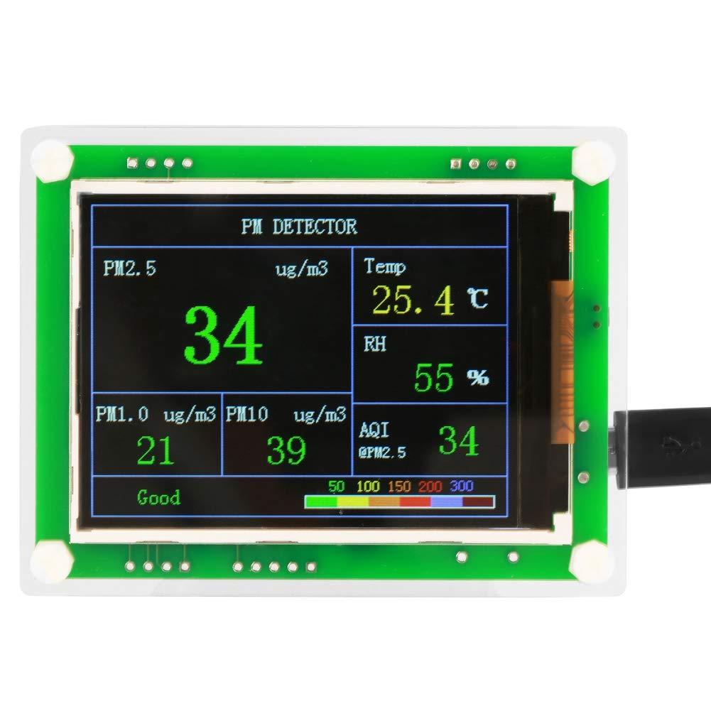 Monitor de Calidad del Aire, detector de Formaldehído, Monitor de detector de Calidad de Aire Digital Portátil Multifuncional PM2.5 Para Interiores, Automóviles, Exteriores