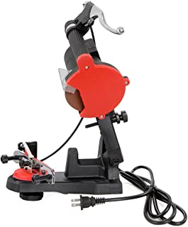 KCHEX>Electric Chainsaw Sharpener Grinder Chain Saw Bench Mount W Brake and Wheel>This Chain Grinder boasts a Powerful 85W...