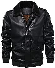 HYIRI Classic actical Outwear Coat,Men's Lapel Fur Collar Leather Pocket Flying Jacket T