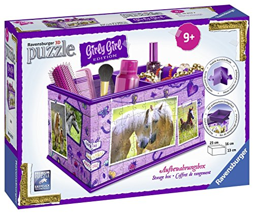Ravensburger 12072 3D-Puzzle Girly Girl Edition Aufbewahrungsbox Pferde, 216 Teile