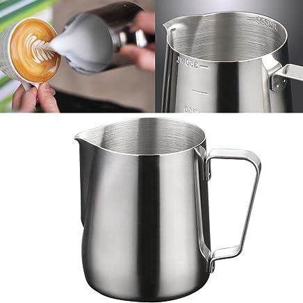 Jarra de leche para hacer latte Art, acero inoxidable, para hacer capuchino o para