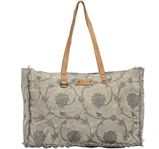 Myra Bag Throng Upcycled Canvas Weekender Bag S-1308