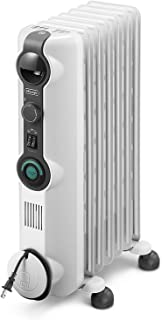 De'Longhi Oil-Filled Radiator Space Heater, Quiet 1500W, Adjustable Thermostat, 3 Heat Settings Energy Saving, Safety Feat...