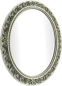 LIU UK Mirror Miroir ajouré modèle de Salle de Bain Ovale, européen Pastorale (Couleur : #1)