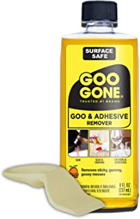 Goo Gone Original Liquid - 8 Ounce and Sticker Lifter - Surface Safe Adhesive Remover Safely Removes Stickers Labels Decals Residue Tape Chewing Gum Grease Tar Crayon Glue