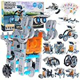 Faburo STEM Toys for Kids Aged 8-12 Educational 12-in-1Solar Robot Toys - 190 Pcs DIY Building Coding Science kit +8 Pcs Robot Stickers ,Robot Powered by The Sun