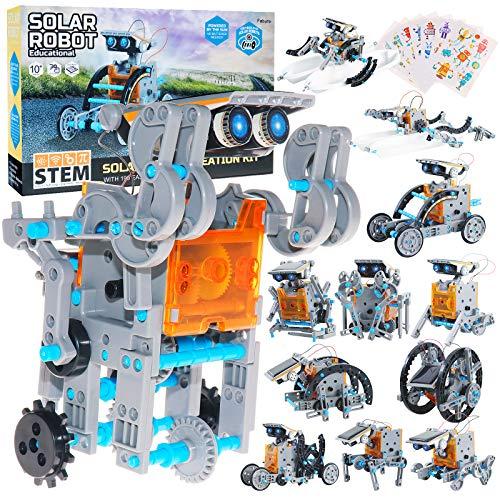 Fabu Juguete Robot Stem para niños, Kit de Construcción Robotica Educativa Kit de Robótica Solar Coding Robots Engineering Set Powered Juego Creativo y DIY Juguetes Regalo para Niños de 8-12 Años