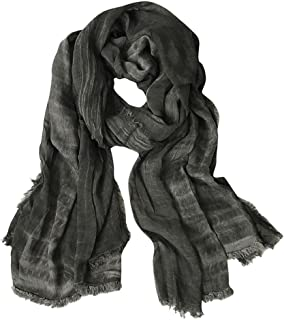 GERINLY Fashion Winter Men Scarves Soft Warm Crinkle Scarf