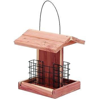 Solution4Patio Homes Garden Suet Bird Feeder USA Cedar Wood Handmade Double Suet Cake Holder for Woodpeckers, Bluebirds, Cardinals, Starlings, Jays, Nuthatches #G-8471