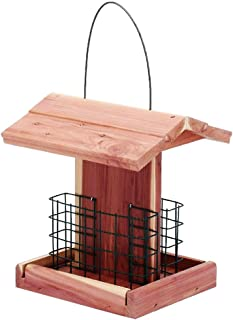 Homes Garden Suet Bird Feeder USA Cedar Wood Double Suet Cake Holder for Woodpeckers, Bluebirds, Cardinals, Starlings, Jays, Nuthatches #G-8471