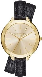 Michael Kors Slim Runway Watch for Women - Analog Leather Band - MK2468
