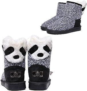 Hot Cute Kids Boys Girls Cartoon Snow Ankle Boots Baby Waterproof Fur Warm Shoes