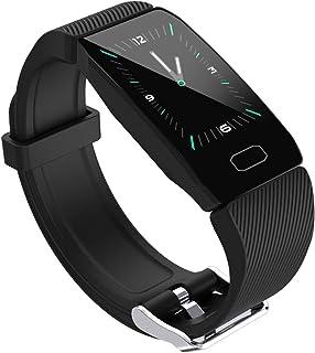YANQIN Smartwatch Hombre, Reloj Inteligente con Pantalla Tátil, Reloj Deportivo Impermeable, Reloj Digital Fitness Tracker Compatible
