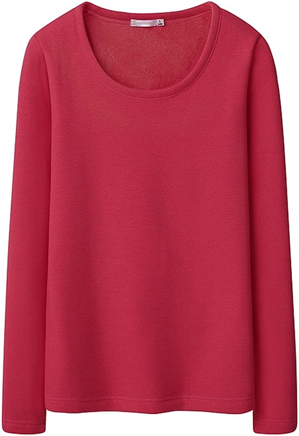 Dress Thickened women's winter blouse Slim warm longsleeved Tshirt ( color   A , Size   L )