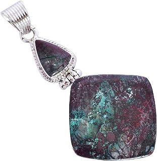 Ravishing Impressions Jewellery Sonora FSJ-5407 - Colgante de plata de ley 925 con piedras preciosas de jaspe