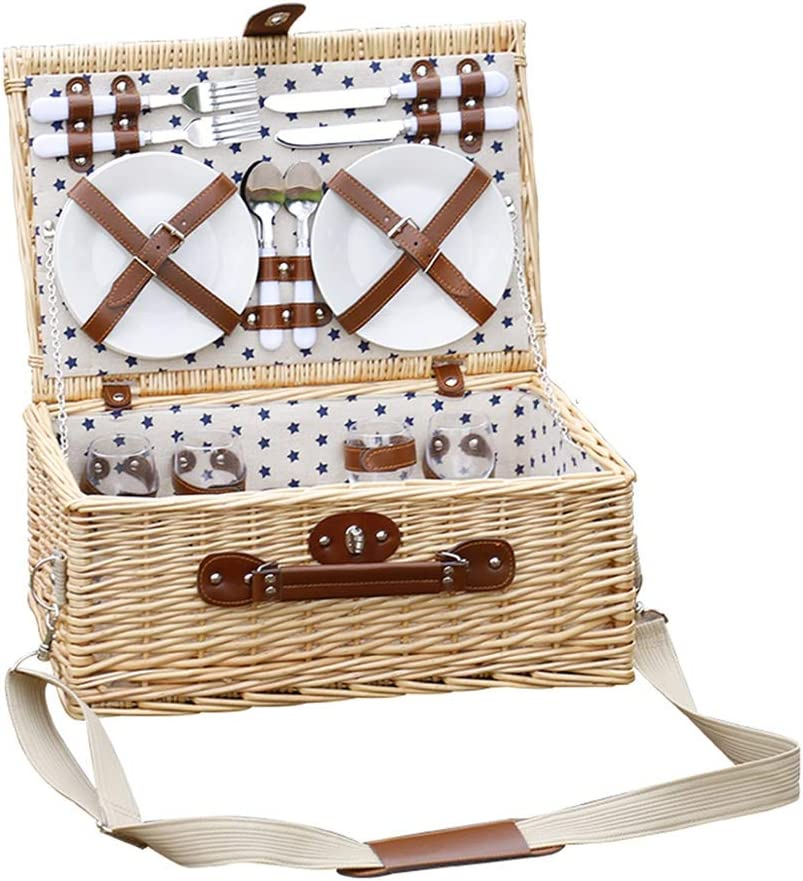 LiPengTaoHome Picnic Basket Wicker Cutlery Ha with Cheap mail Brand new order shopping
