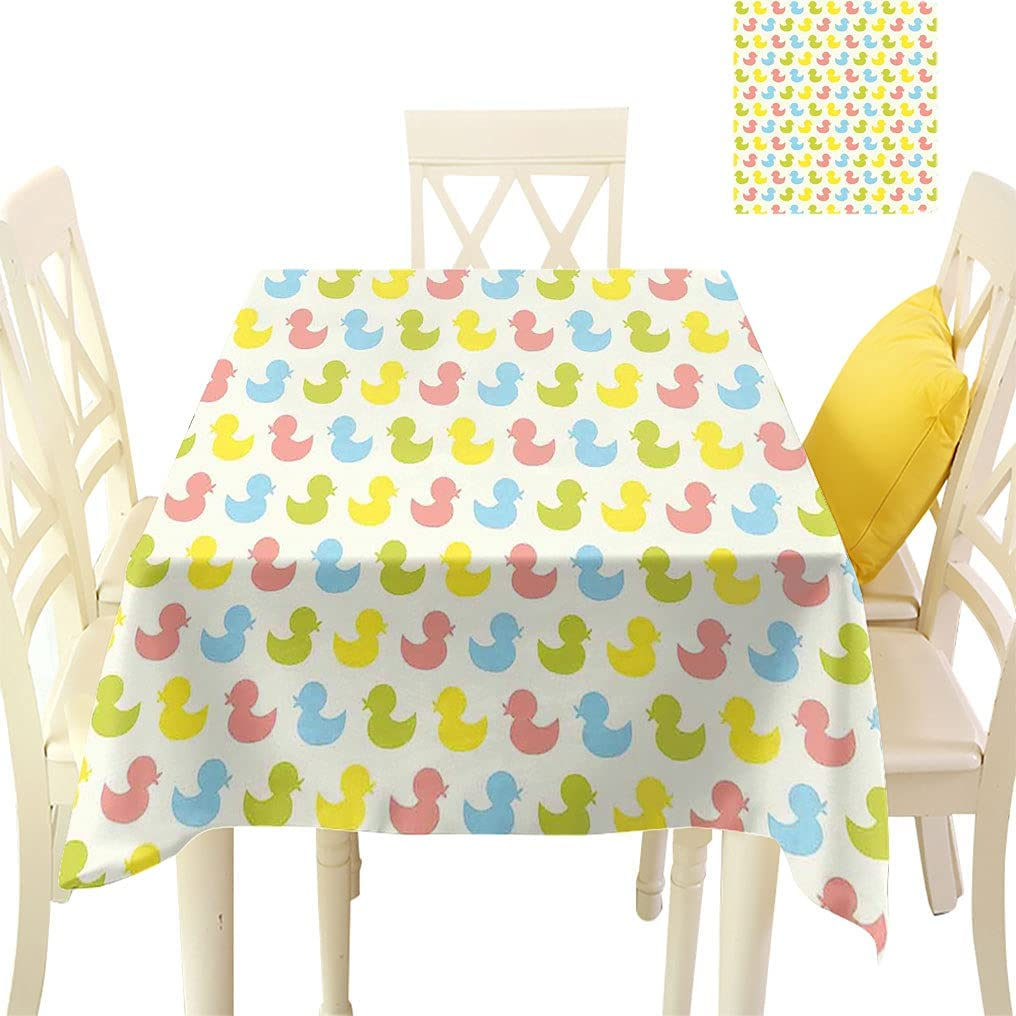 Amazing Rubber Duck Square Ducklings Ultra-Cheap Selling Deals Baby Colorful Tablecloths