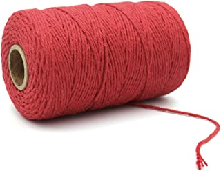Cotton Bakers Twine,656 Feet Red Cotton String for Crafts,Gift Wrapping Twine,Arts & Crafts, Home Decor, Gift Packaging