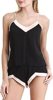 N NORA TWIPS Women's Lingerie Sleepwear Satin Pajama Camisole Short Set Sexy Nightwear