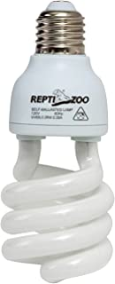 REPTI ZOO Energy Saving Lamps UVB Bulb,Spiral Compact 15 Watts 26 Watts UVB 5.0 Reptile Light Bulb Fit for Rainforest Type Reptile/Snake/Lizard/Insect/Turtle/Tortoise