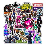 Stickers for Games Fortnight for Hardhat Helmet Toolbox Laptop Computer Pistol Rifle Shot Gun Mug Car Bumper for Boys Men Adult SWAT Police Army Fan Game Lovers Party Decoration 50 Packs