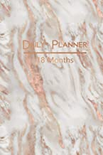 Daily Planner 18 Months: Elegant Rose Gold Marble Diary Planner and Appointment Calendar: 18 Months from July 2019 to December 2020