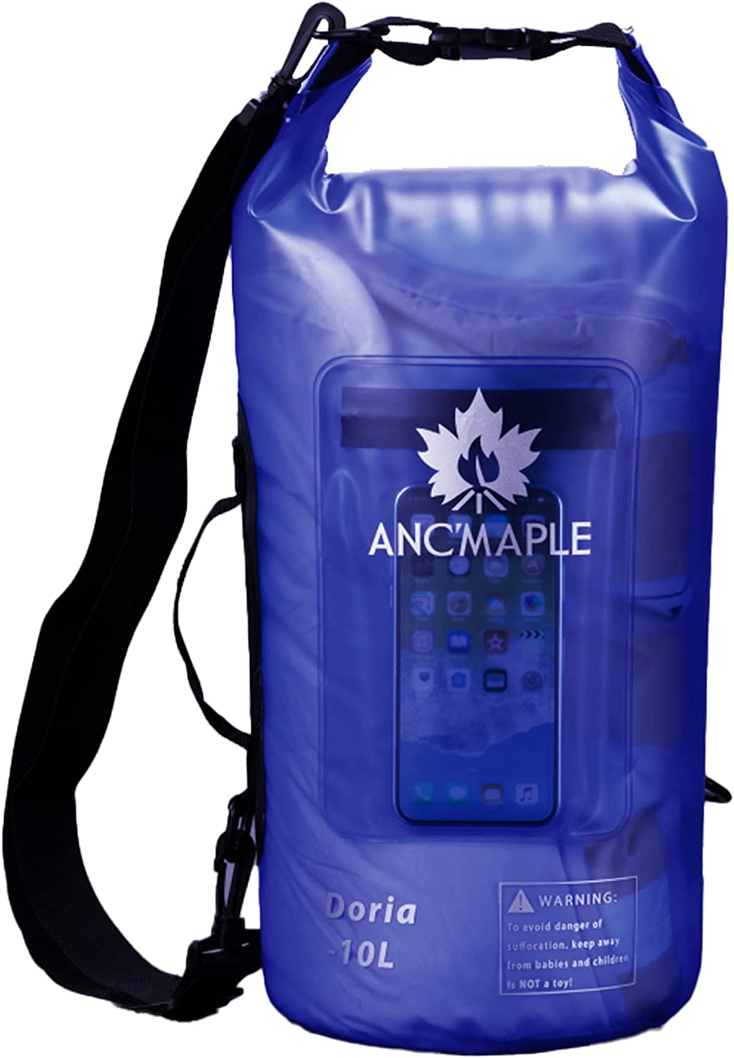 Ancmaple Waterproof Dry Bag Cheap bargain 10L Max 44% OFF 15L Translucent Storage Frosted