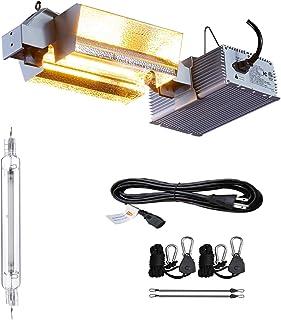 TopoGrow 1000W Double Ended HPS Grow Light Kit Complete with 2000K HPS Bulb 120V/240V Ballast 120V Plug (1000W Open Kit/Horizontal)