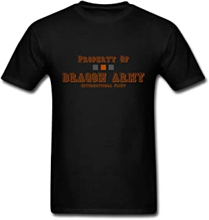 GHMClothing Men's Ender's Game Dragon Army for Printed T-Shirts Black