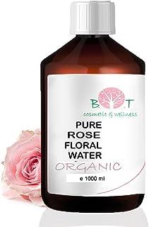 Agua Floral Puro Ecológico Hidrolato de Rosa ORGÁNICO Piel Sensible/Piel Madura 1000 ml