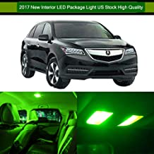 SCITOO LED Interior Lights 16pcs Green Package Kit Accessories Replacement for Acura MDX 2001-2006