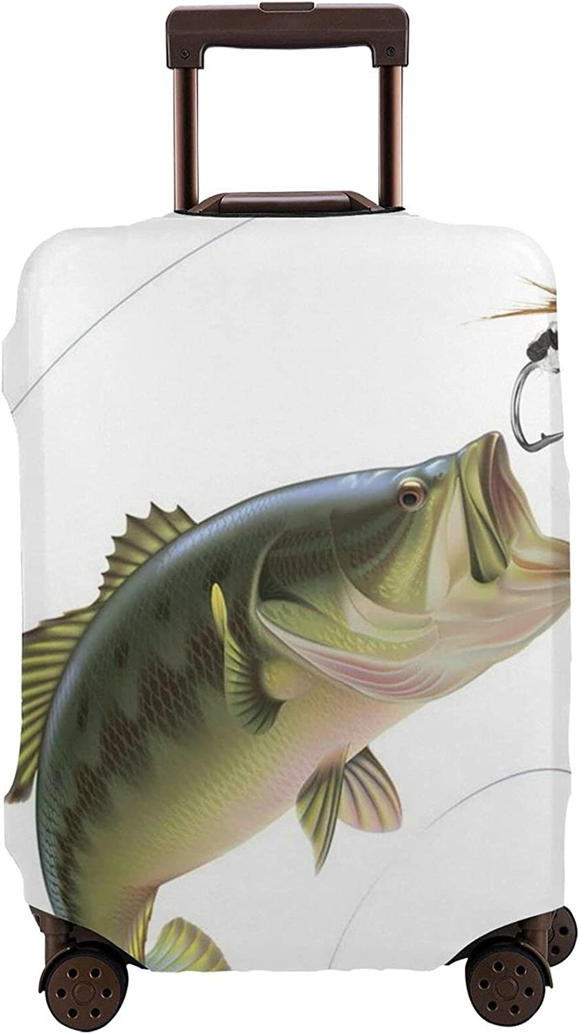 Male Popular Fishing With Bait And Fish Seasonal Wrap Introduction Cover P Luggage Protector Travel