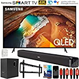 Samsung QN65Q60RA 65 inch Q60 QLED Smart 4K UHD TV Bundle with Deco Gear Home Theater Premium Soundbar and Subwoofer, Wall Mount Accessory Kit and Set Up Bundle