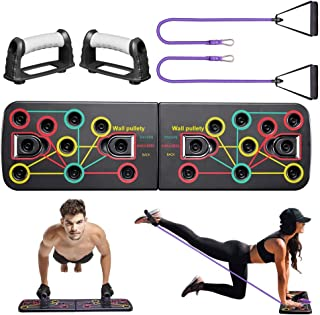 Push Up Board, 13-in-1 Workout Board Portable Push Up Board Training System for Men Women Home Fitness Training