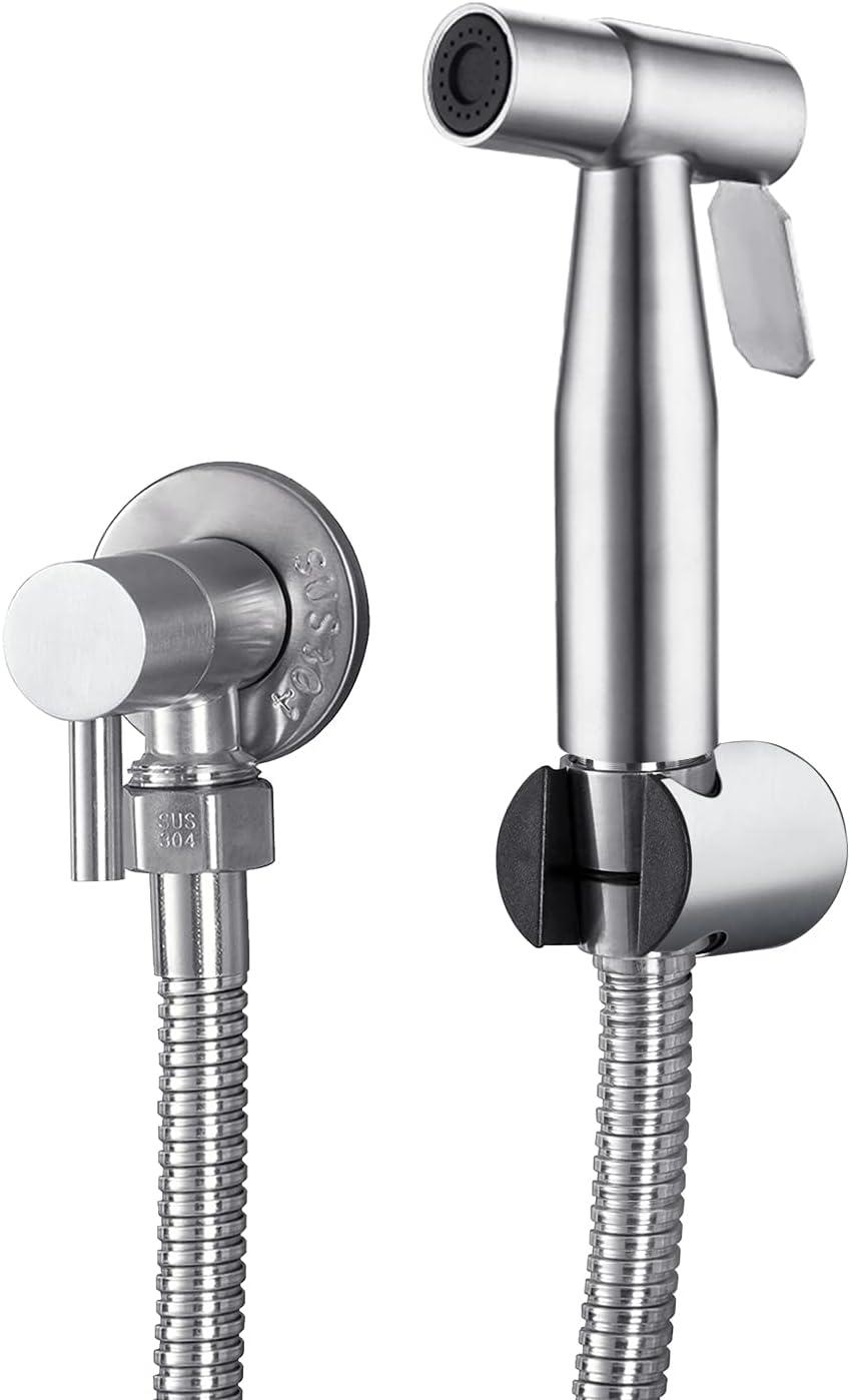 LOSCHEN Pulverizador de Bidé Para Inodoro, Pulverizador de Mano de Acero Inoxidable Para WC, Grifos de Bidé Shattaf Pulverizador