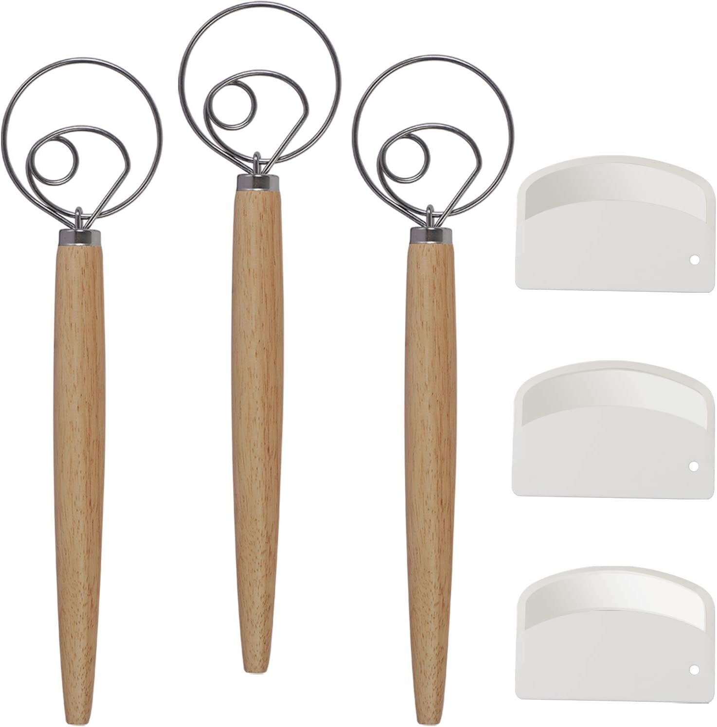 ZOENHOU 3 Pack 13 Inch Danish Year-end annual account Whisk with Max 79% OFF PCS Dough Scrap