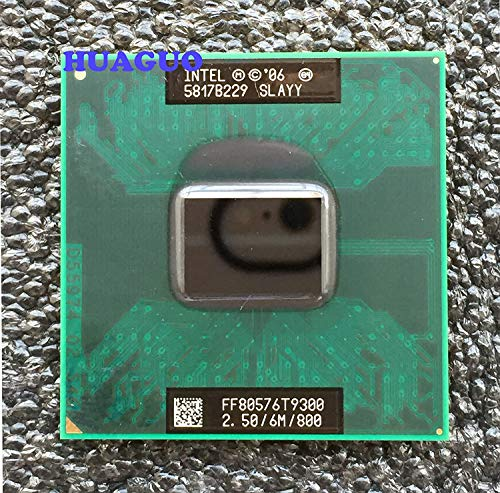 Intel Core 2 Duo T9300 2.5GHz Dual Core Mobile CPU Slaqg Slayy 6M L2 Cache 800MHz FSB Stecker P