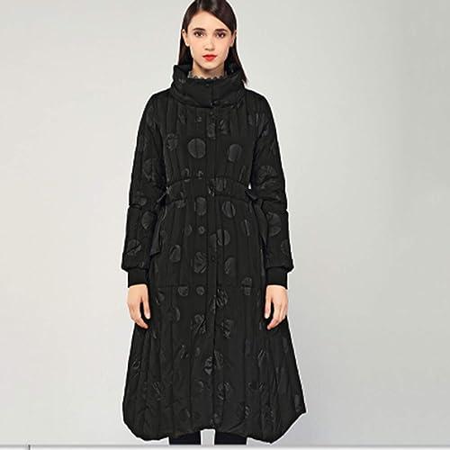 YXXHM- Doudoune Longue Et Moyenne, Vêtements d'hiver pour Femmes, Veste Longue Et Ourlet Imprimée Aux Niveaux Européen Et Américain