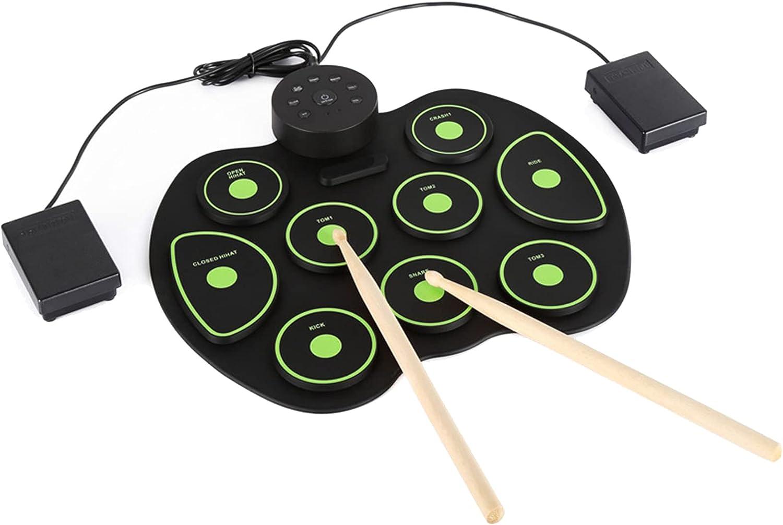 Electronic Drum Set for New color Kids Kit Beginner Indefinitely Midi Roll Adult