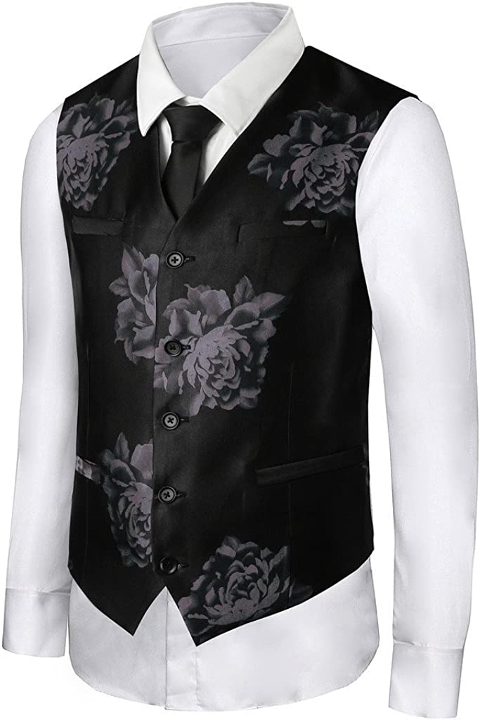 Hanayome Men's 18th Century Retro Style Dancing Party Waistcoat Suit Vest VS23