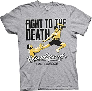 Bloodsport Officially Licensed Fight to The Death Mens T-Shirt (Heather-Grey)