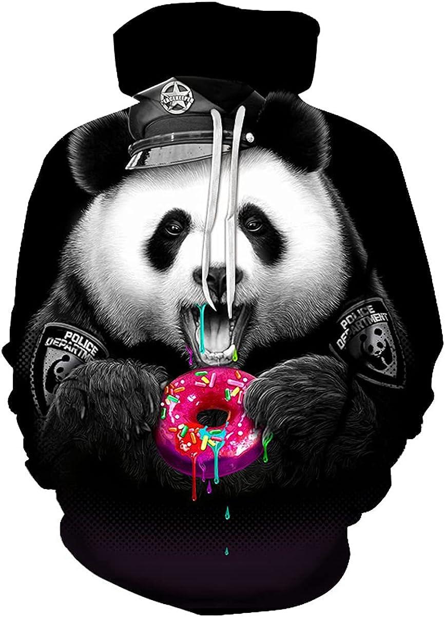 Lilinoffy Adult Drawstring Hoodies Sweatshirts Donuts Sport Tops