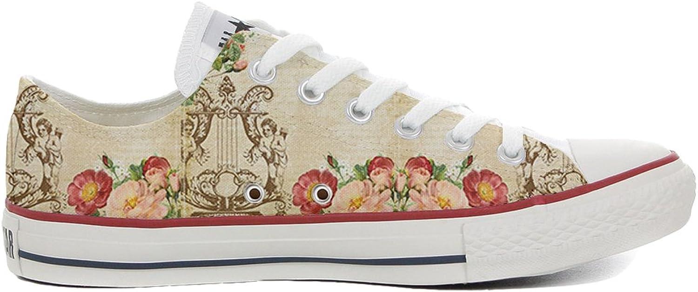 Converse All Star personalisierte Schuhe (Handwerk Produkt) Floral Vintage