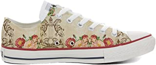 Zapatillas All American USA – Base Type Star Unisex – Estampado Vintage 1200 dpi – Estilo Italiano – Calzado Fino Personal...